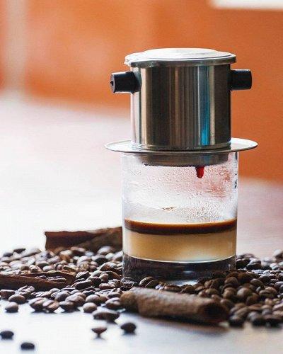 ✾Вьетнам: лапша, кофе ✾ Доставка 23 апреля — Кружка-фильтр для заваривания кофе по-вьетнамски — Кофе и кофейные напитки