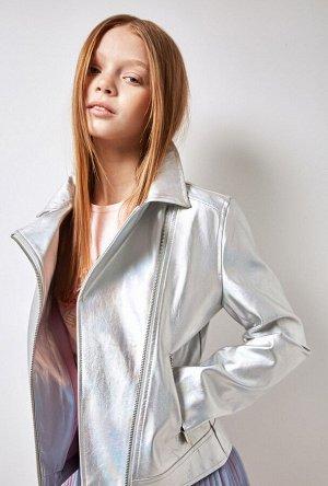 Куртка детская для девочек Banks серебряный