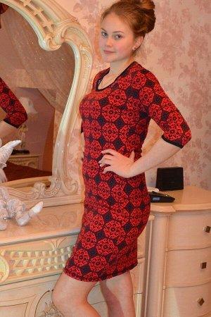 Платье женское милано - 95 - красный