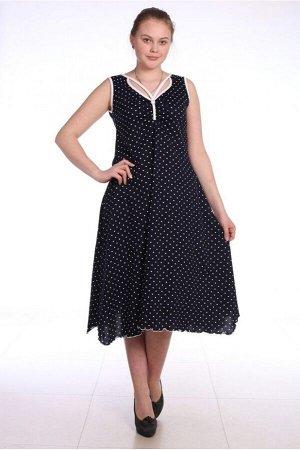 Платье женское  в горошек - 140Н - черный