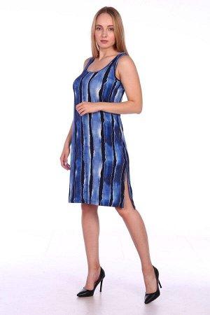 Сарафан женский из вискозы - 704 - черно-синий