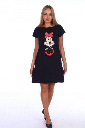 Платье женское - 225К - черный