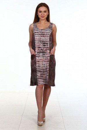 Сарафан женский из вискозы - 252 - коричневый