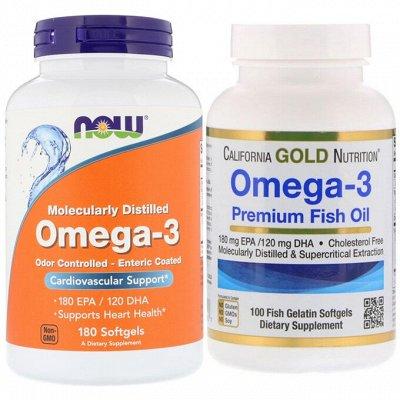 Хиты органики! Витамины, натуральные товары из США! — Рыбий жир и Омега (ЭПК и ДГК) — Витамины, БАД и травы