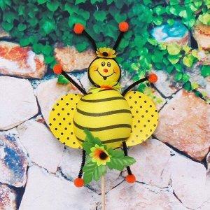"""Фигура садовая """"Пчелка"""" 15*27см на штекере ДоброСад"""