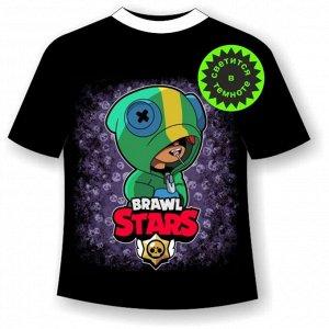 Подростковая футболка Brawl Stars Леон 1071
