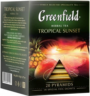 Чай Гринфилд пирам. Tropikal Sunset