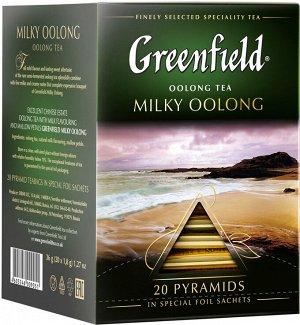Чай Гринфилд пирам. Milky Oolong green tea