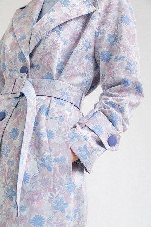 Распродажа Размерный ряд: 42-54; Состав ткани: полиэстер70%, хлопок30%; Длина: 109 см.; Сезон: Демисезон; Цвет: серый, синий, бледно-розовый; Стиль: Повседневный; Фасон: Приталенный; Ткань: Средней