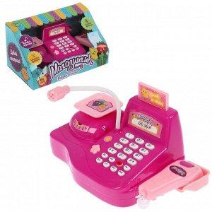 Игровой набор касса «Магазинчик», с аксессуарами, световые и звуковые эффекты, цвета МИКС