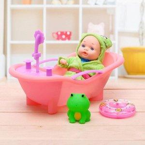 Пупс «Саша» в ванной, с аксессуарами, МИКС