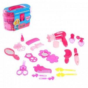 Набор парикмахера «Модный образ», розовый, 19 предметов
