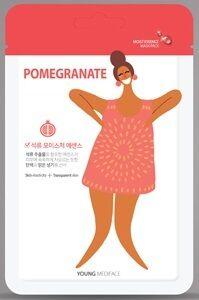 """""""Young Mediface (Pomegranate)"""" Тканевая маска-салфетка для лица с эффектом лифтинга с экстрактом граната 25 мл"""