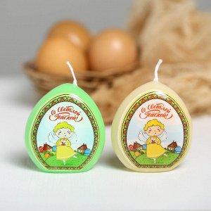 Свеча-яйцо с картинкой «Ангел»