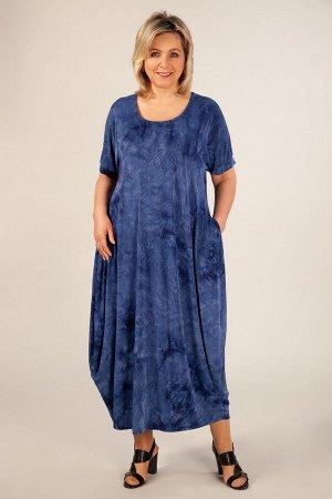 Платье зеленый, Бордовый, темно-серый, синий Летнее платье, в стиле «бохо», тренд текущего сезона. Выполнено из лёгкого трикотажного полотна.Рукав цельнокроенный, горловина округлая, по бокам карманы.