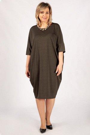 Платье Виктория коричневый