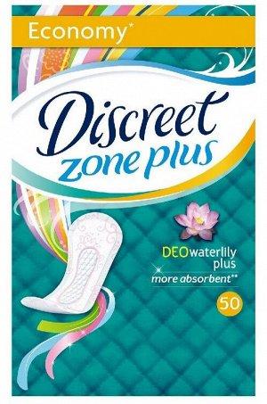 DISCREET Plus Женские гигиенические прокладки на каждый день Deo Water Lily Plus Trio 50шт