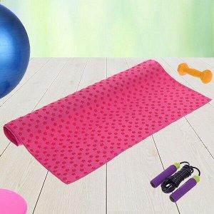 Коврик для йоги текстильный