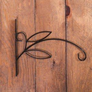 Кронштейн для кашпо, кованый, 25 см, металл, чёрный, «Зацеп»