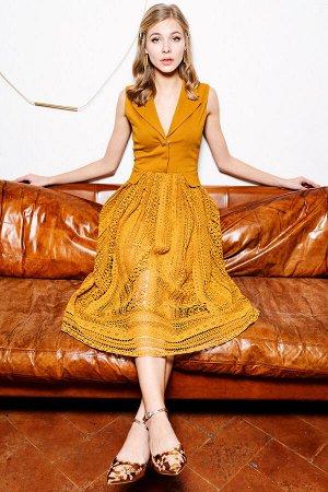Платье Цвет: горчичный