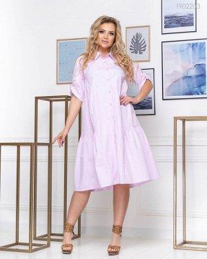 Платье-трапеция Тичино  (розовый)