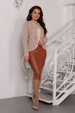 #95305 Жакет (Ankoli) Розовый/молочный