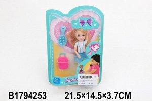 Кукла 015-1BD Cutie с аксесс. на блистере