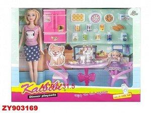 Кукла Kaibibi 214BLD столовая с аксесс, в кор