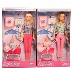 Кукла 8358 с коляской и ребенком Defa Lusy
