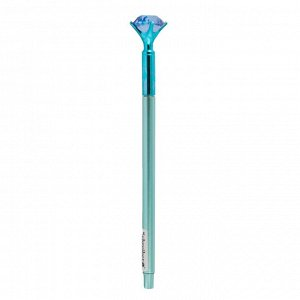 Гелевая ручка С КРИСТАЛЛОМ, игольчатый наконечник 0,5 mm, СИНИЙ ЦВЕТ, 4 цвета корпуса в ассортименте