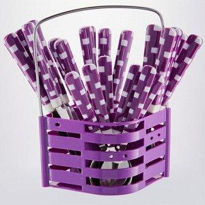 """BE-014P25/17 Набор стол. приборов 24 пр. """"Геометрия"""" фиолетовый (12)"""