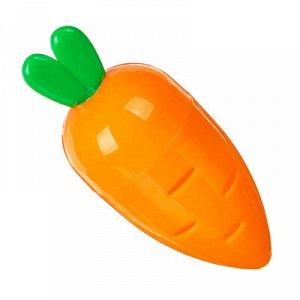 Точилка для карандашей с контейнером в форме морковки, 7,5x3,3см, пластик