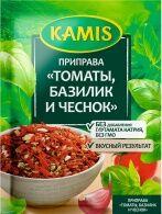 Kamis Приправа томаты, базилик и чеснок пак. 15г 1/26, шт
