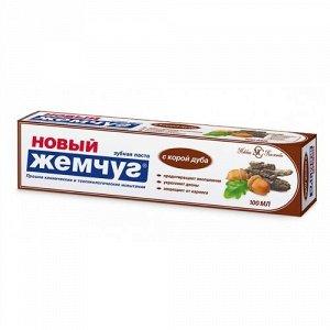 З.паста НОВЫЙ ЖЕМЧУГ 100мл Кора дуба (пласт.туба футляр)