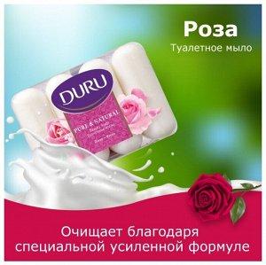 Мыло т. DURU экопак Purе&Natural 4*85г Роза