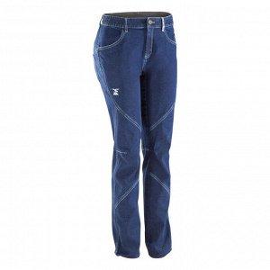 Брюки для скалолазания джинсовые эластичные женские темно-синие  simond