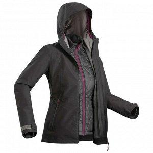 Куртка для треккинга женская 3 в 1