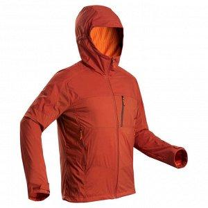 Мужская куртка для горного треккинга TREK 900 WINDWARM утепленная из софтшелла FORCLAZ