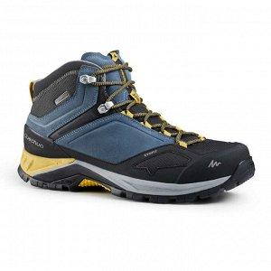 Мужские водонепроницаемые кроссовки д/горных походов мужские сине-жел. MН500 Mid QUECHUA