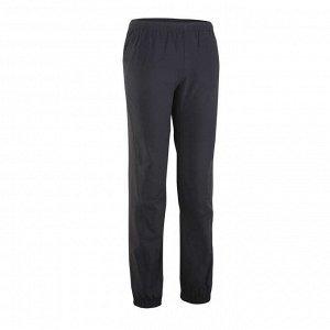 Спортивные брюки ультралегкие для мальчиков черные DOMYOS