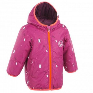 Куртка для катания на лыжах/санках для малышей Warm Reverse розовая LUGIK