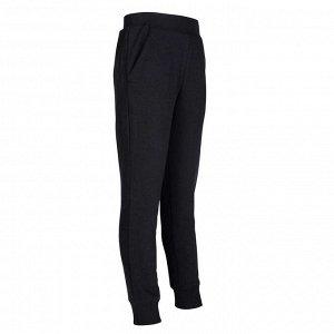 Спортивные брюки 100 зауженные для девочек черные DOMYOS