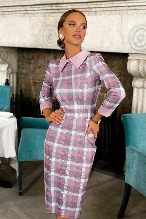 Платье Размер: 42 / 44 Оригинальное повседневное платье приталенного силуэта. Модель дополняется воротничком и манжетами. Так как впереди нас теплое и солнечное время года данную модель мы отшили в не