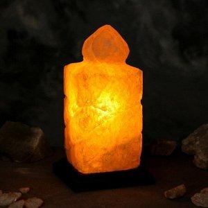 "Соляная лампа ""Свеча"", цельный кристалл, 26 см, 3-4 кг"