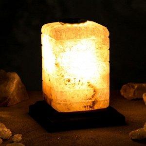 """Соляная лампа """"Зебра арома"""", цельный кристалл, 16 см, 2-3 кг"""