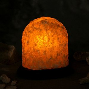 """Соляная лампа """"Гора малая"""", цельный кристалл, 15 см, 2-3 кг"""