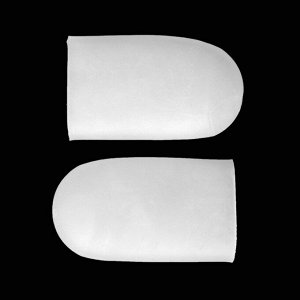 Защитные чехлы на пальцы ног, силиконовые, пара, цвет белый