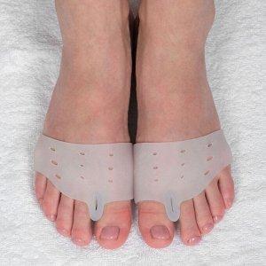 Корректоры для пальцев ног, на 5 пальцев, с разделителем, силиконовые, пара, цвет белый