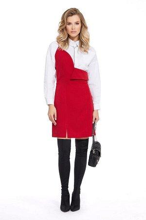 Рубашка, сарафан PiRS Артикул: 930 белый+красный