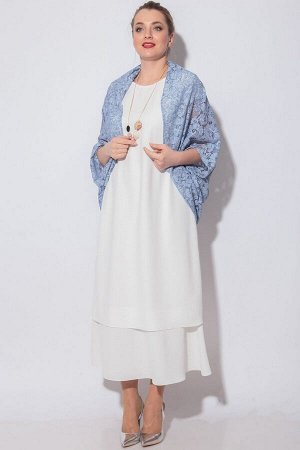 Накидка, платье SOVA Артикул: 11085 молочно-голубой
